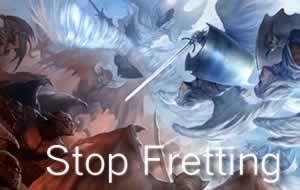 stop fretting banner