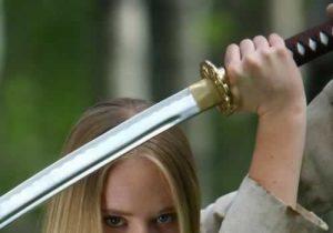 Holding Sword Banner