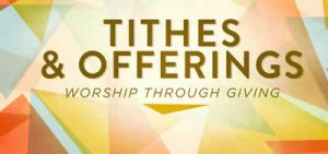 Tithes and offerings banner